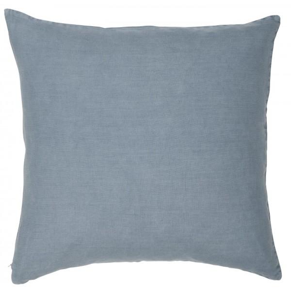 Pudebetræk i gråblåt hør (50 x 50 cm)