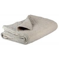 Quilt - grå med smalle striber