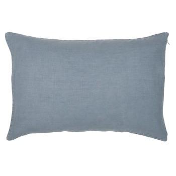 Pudebetræk i gråblåt hør 40 x 60 cm