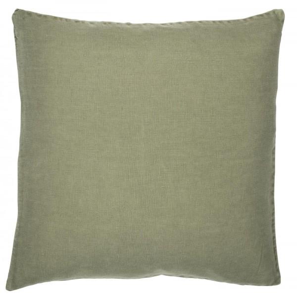 Pudebetræk olivenfarvet hør (50 x 50 cm)
