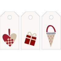 Manillamærker med julemotiver (12 stk.)