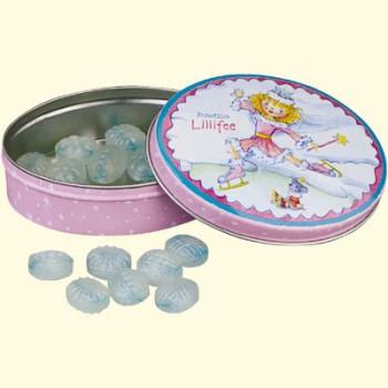 Oval dåse med Lillefe som skøjteprinsesse